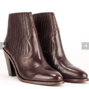 ASH ILONA Ankle Boots in Bordeaux 8M 38EUR EUC